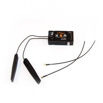 FrSky Receiver X6R with coaxial antenna
